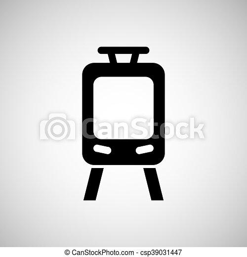train transportation icon - csp39031447