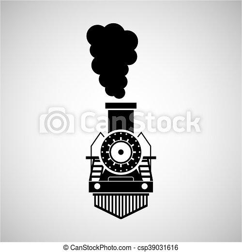 train transportation icon - csp39031616