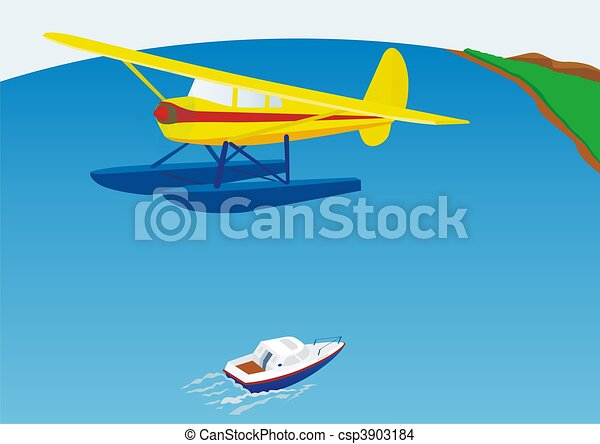 Drawing of Hydroplane - The aircraft is designed for landing on water ...