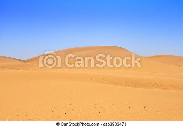 sand dunes and beautiful cloudless sky - csp3903471
