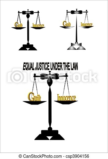 equal justice on white - csp3904156