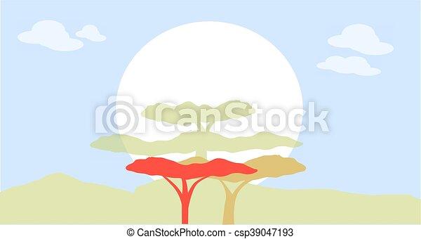 Nature silhouette - csp39047193