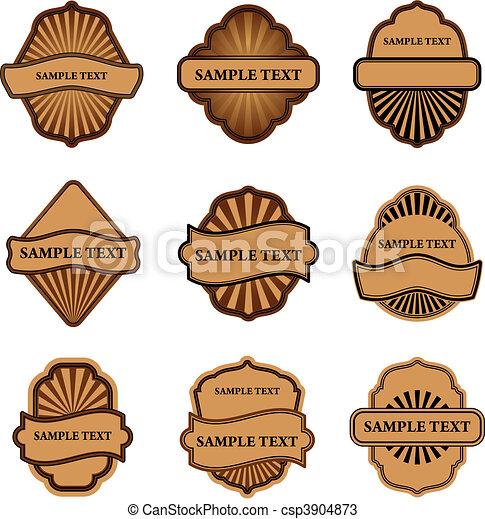 Set of brown labels - csp3904873
