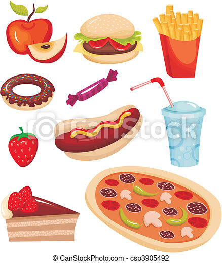 fast food set - csp3905492