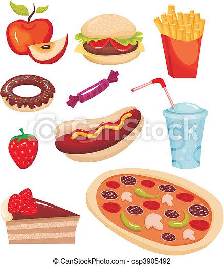 fast food set - csp3905492
