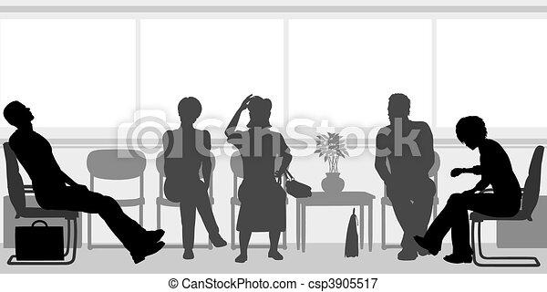 Room Waiting Waiting Room Editable Vector