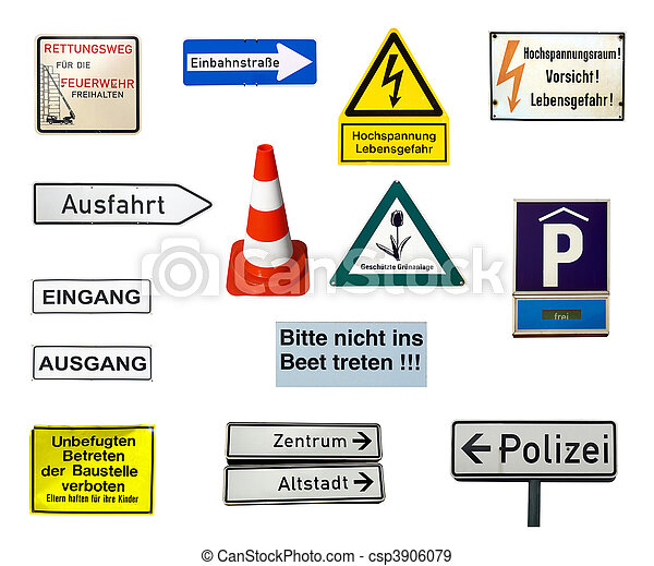 German signs - csp3906079
