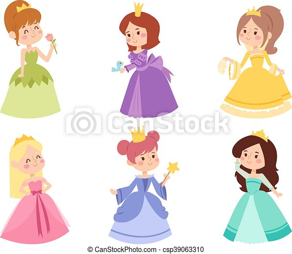 Princess vector set. - csp39063310