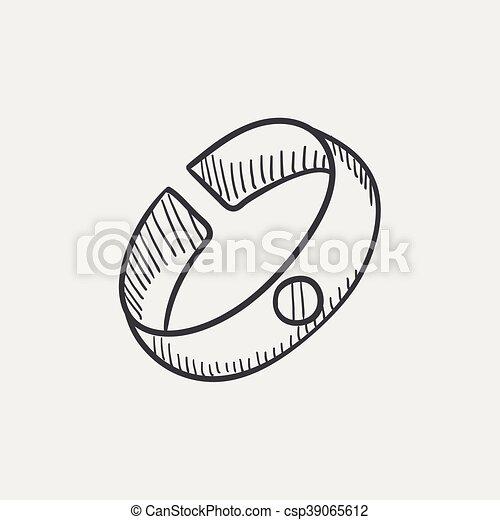Armband clipart  Vektor Clipart von skizze, armband, icon. - Bracelet, skizze ...