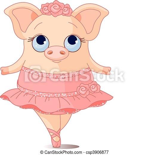 Pig Ballerina - csp3906877