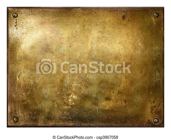 Grungy Brushed Brass Sign - csp3907058