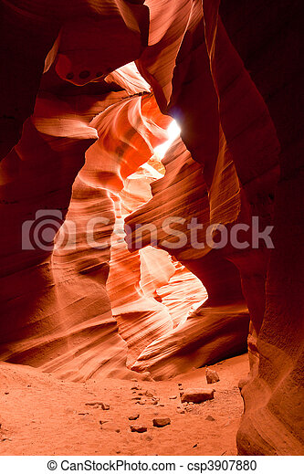 Antelope Canyon is the most-visited and most photographed slot canyon in the American Southwest located on Navajo land near Page, Arizona. - csp3907880
