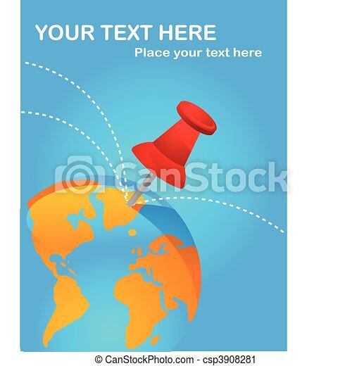 Travel destinations poster  - csp3908281