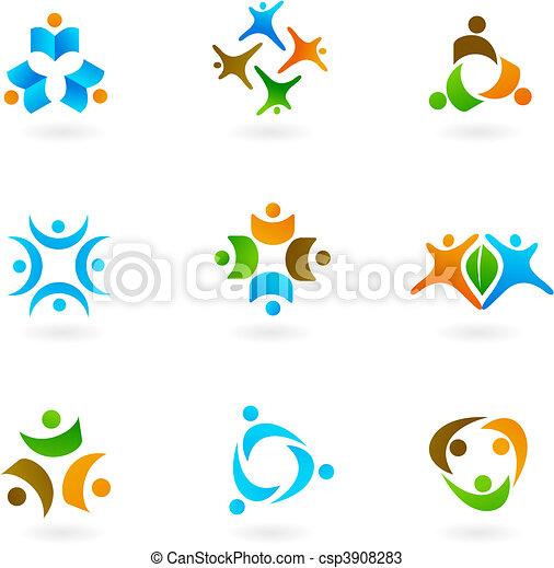 Human icons and logos 1 - csp3908283