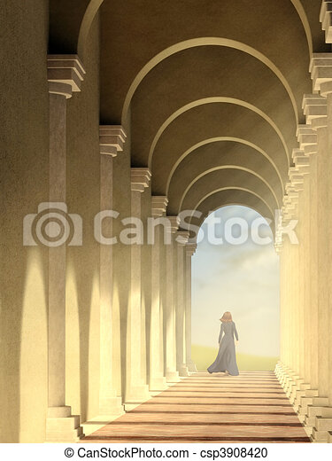 Arched pathway - csp3908420