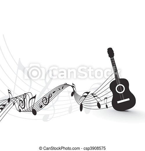 Music notes - csp3908575
