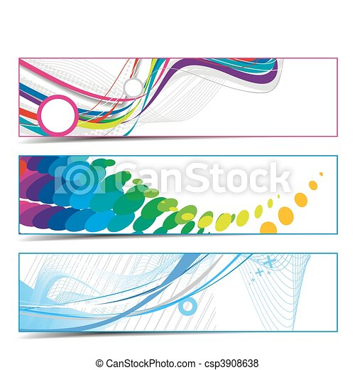 abstract vibrant banners - csp3908638