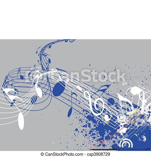 Music notes - csp3908729