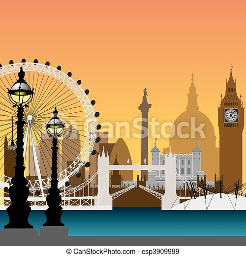 London Cityscape - csp3909999