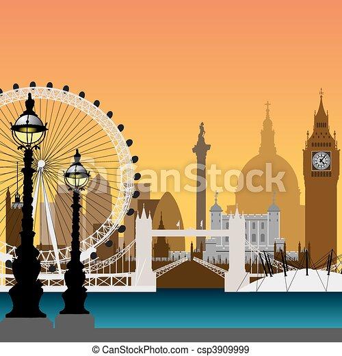 London Cityscape - csp3909999