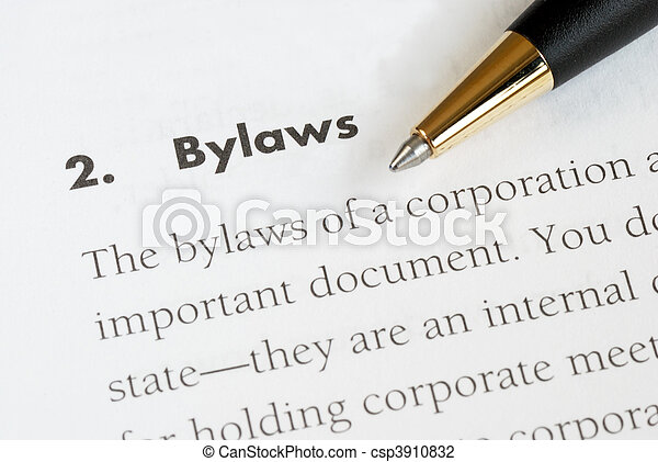 Bylaws of a corporation - csp3910832