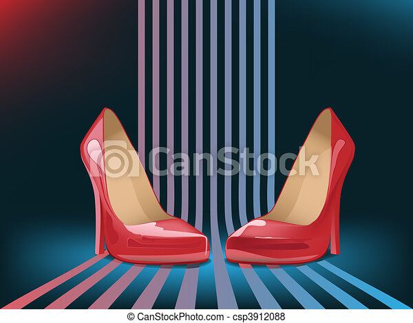 high heel shoes - csp3912088