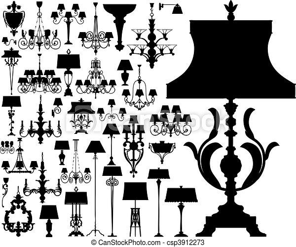 luxury lighting (vector)  - csp3912273