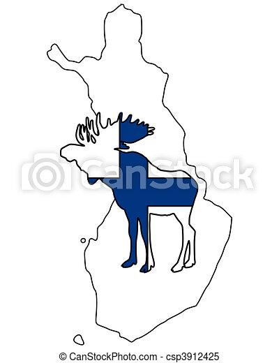 Finnish moose - csp3912425