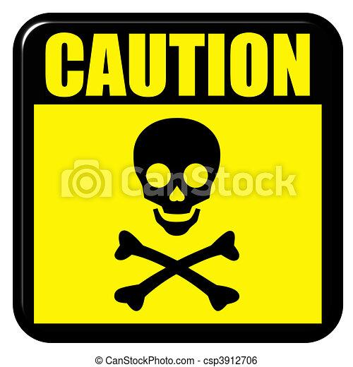 Stock de ilustracion de muerte precauci n precauci n muerte se al aisla - Mise en demeure restitution caution ...