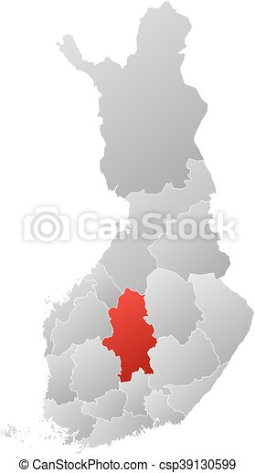 Map - Finland, Central Finland - csp39130599