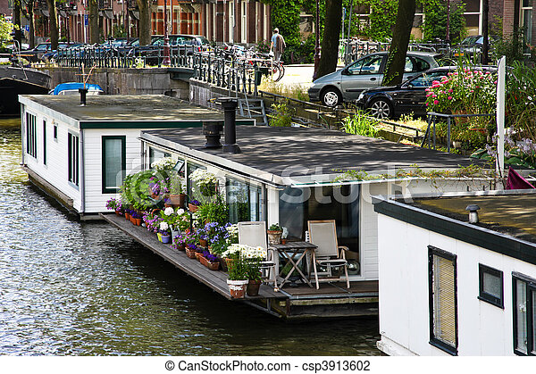 Holland, Netherlands, capital of Amsterdam - csp3913602