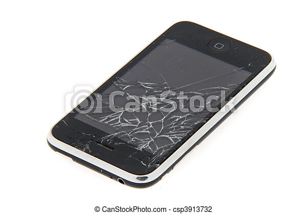 In fall damaged cell phone - csp3913732