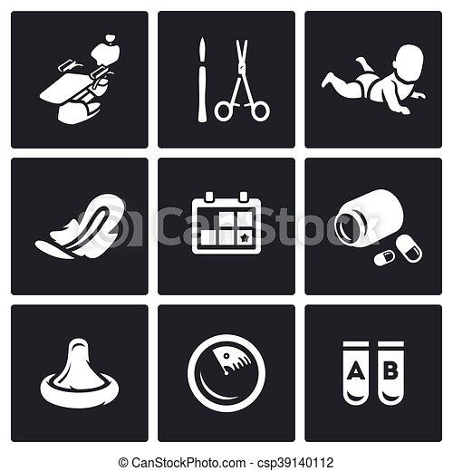 Vector Clip Art of Vector Set of Abortion Icons. Equipment ...
