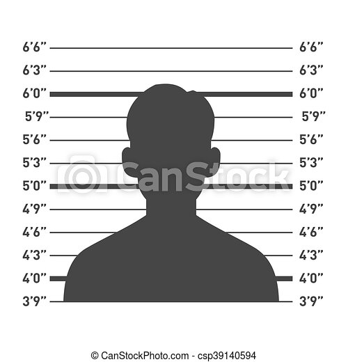 Police Lineup with Man Silhouette. Vector - csp39140594