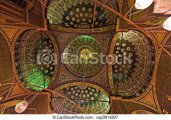 Egypt, Cairo. Mohammed Ali Mosque. Inside. - csp3914207