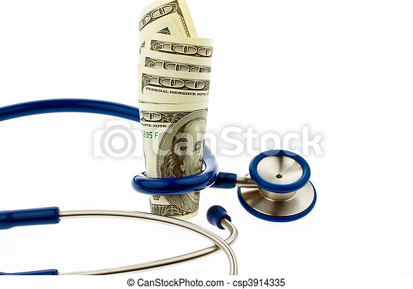 Health costs F??? ? r with dollar bills - csp3914335