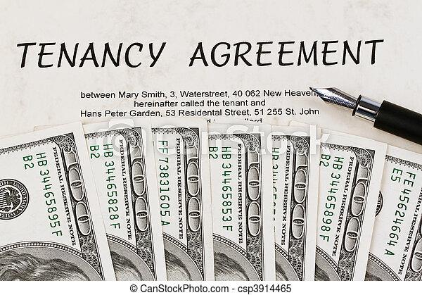 U.S. dollars bills and English lease - csp3914465