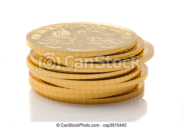 Investment in real gold than gold bullion and gold coins - csp3915443