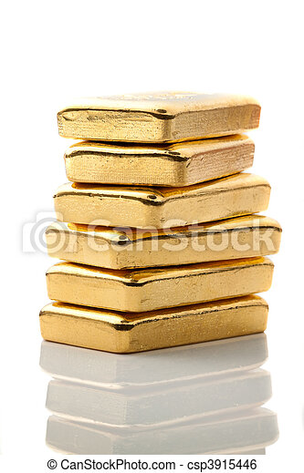 Investment in real gold than gold bullion and gold coins - csp3915446