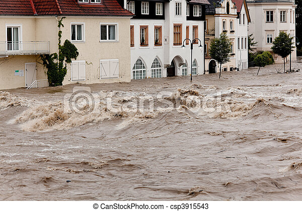 Floods and flooding in Steyr, Austria - csp3915543
