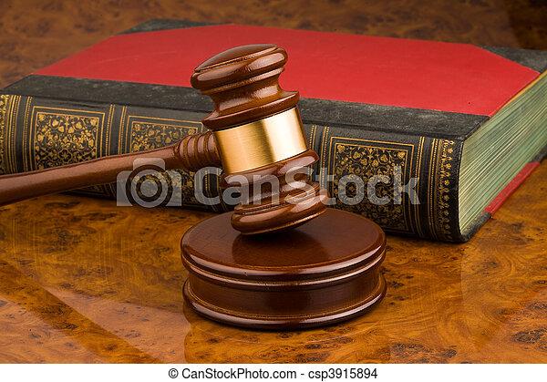 Court Hammer - csp3915894