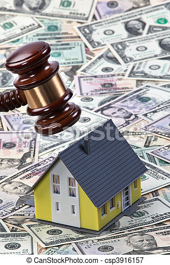 Symbol of property crisis in houses - csp3916157
