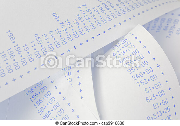 Computational stripes with numbers. Costs, expenses, revenues and profits. - csp3916630