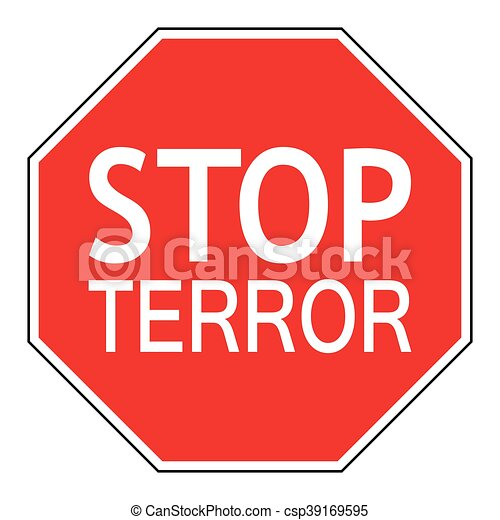 Sign stop terror - csp39169595