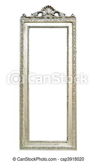 stock fotografie von silber spiegel gro wand spiegel mit silber rahmen csp3918020. Black Bedroom Furniture Sets. Home Design Ideas