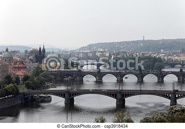Prague bridges over the Vltava - csp3918434