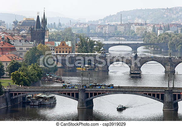 Prague bridges over the Vltava - csp3919029