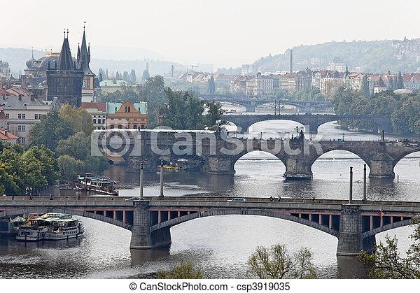 Prague bridges over the Vltava - csp3919035