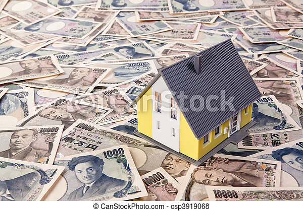 Foreign currency loans for house building in Yen - csp3919068