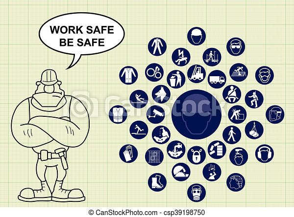 Clipart Vector of Construction health and safety - Construction ...